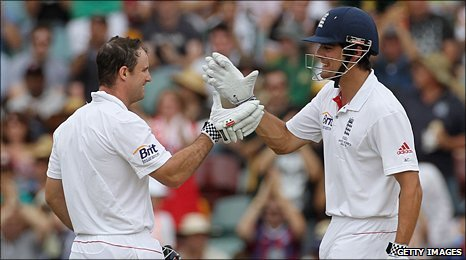 Andrew Strauss and Alistair Cook