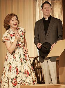 Sophie Thompson and Sam Spruell in Clybourne Park (photo by Johan Persson)