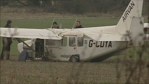 The plane crashed near Redlands airfield