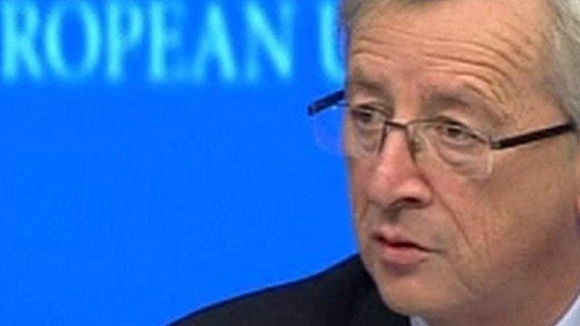 Eurozone finance ministers' chairman Jean-Claude Juncker