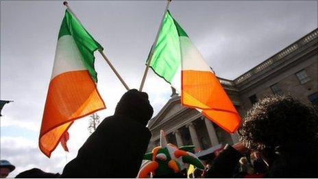Irish Republic flags