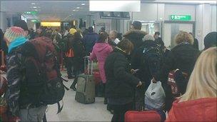 Passengers wait at Edinburgh Airport (Pic: David Miller)