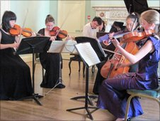 Pupils perform Piano Quintet at the concert