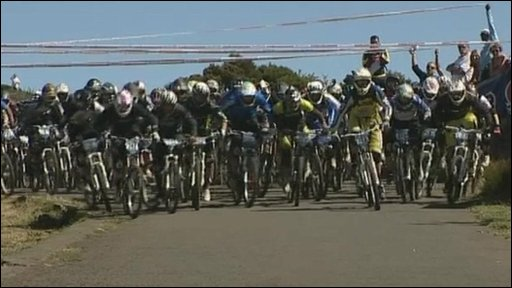 Seriously extreme bike race!