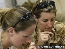 Female members of 656 Squadron, 4 Regiment Army Air Corps in Afghanistan