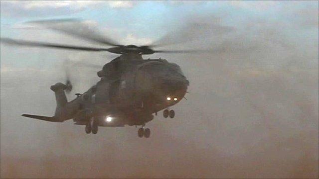 RAF Merlin in Afghanistan