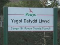 Arwydd Ysgol Dafydd Llwyd