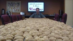 Chris Voigt at the State Potato Commission