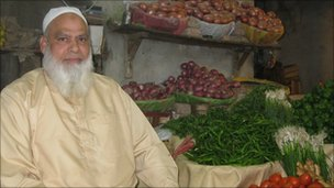 Hajji Yaqoob at his stall