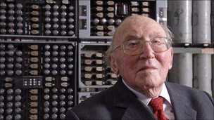 Sir Maurice Wilkes at The National Museum of Computing (Stephen Fleming)
