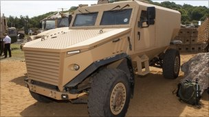 The Foxhound patrol vehicle