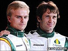 Lotus driver Heikki Kovalainen and Jarno Trulli