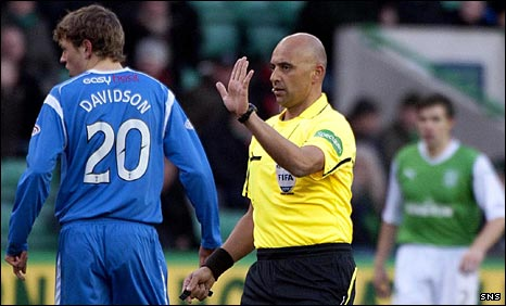 Maltese referee Christian Lautier took charge of Hibs against St Johnstone