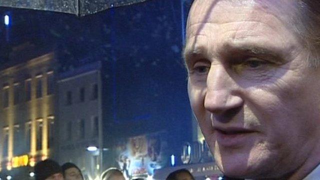 Liam Neeson at the Narnia premiere