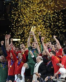 Spain celebrate their 2010 World Cup sucess