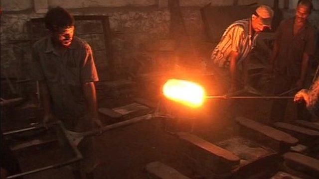 Making steel