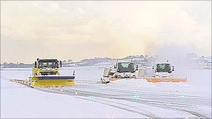 Snow ploughs at Edinburgh Airport