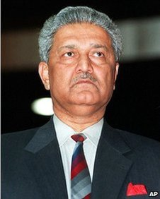 Dr Abdul Qadeer Khan, the founder of Pakistan's nuclear program is shown in this March 19, 1998 file photo.