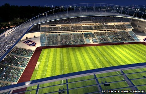 An artist's impression of the American Express Community Stadium