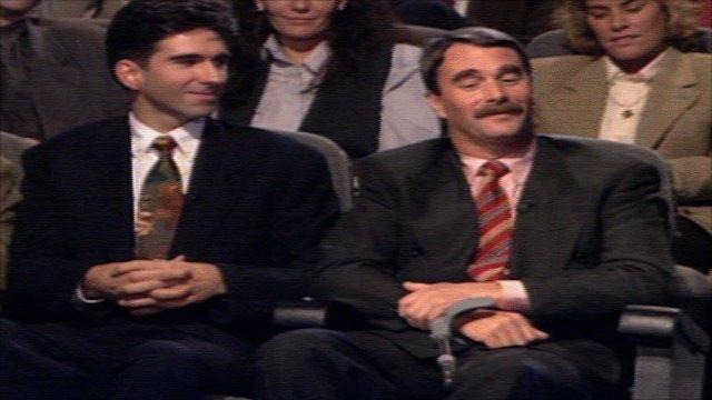 Damon Hill and Nigel Mansell