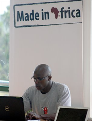 Man working at iHub