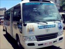 Manchester City Sierra Leone FC bus