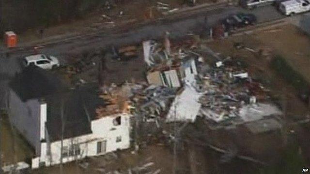 House flattened