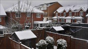 Snow in Yeovil
