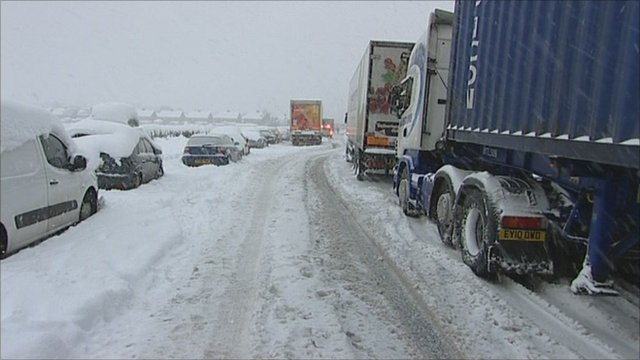 Vehicles on the A57
