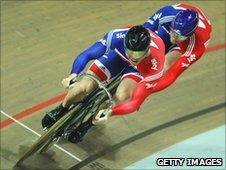 Sir Chris Hoy and Matt Crampton