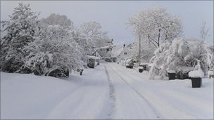 Snowy road in Glentworth (pic courtesy Andy Duffy)