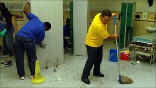 Hospital cleaners