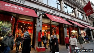 Shoppers enter the Hamleys toy store