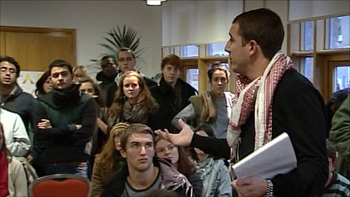 Students at London University sit-in