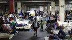 A shelter in Caracas