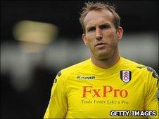 Fulham goalkeeper Marlk Schwarzer