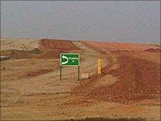 Construction work at the new F1 circuit near Delhi