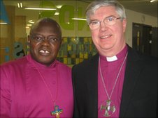 The Archbishop of York (left) and Bishop of Norwich