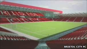 Proposed new ashton Vale stadium