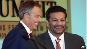 Former British PM Tony Blair and Vir Sanghvi