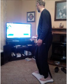Vince Wells uses his Wii
