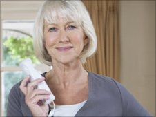 Helen Mirren with a Wii