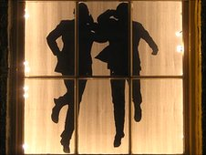 Window featuring Morecambe and Wise