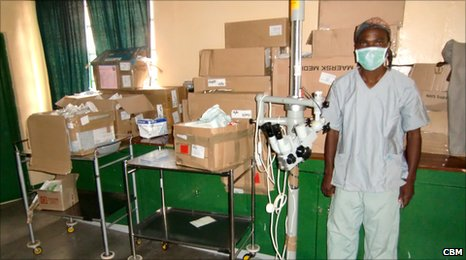 Gifts In Kind items shipped by CBM UK to the Nkhoma Eye Hospital in Malawi