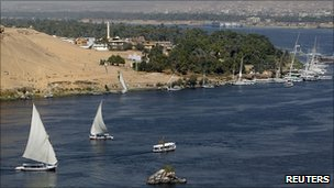 River Nile at Aswan, Egypt (file image)