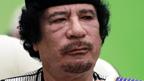 Libyan leader Colonel Gaddafi