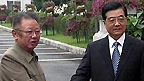 North Korean leader Kim Jong-Il and Chinese President Hu Jintao