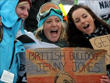 British snowboarder Jenny Jones