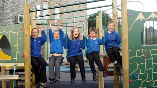 Kids at a primary school in Brixham, Devon, which has had no snow!
