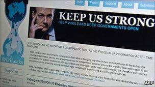 Wikileaks homepage - 3 December 2010